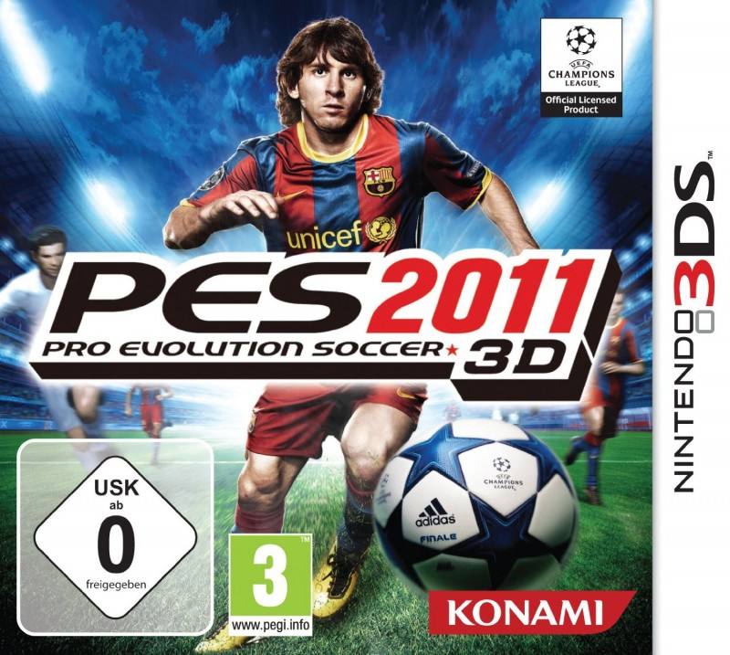 Nintendo 3DS - Pro Evolution Soccer 3D 2011 / PES 11