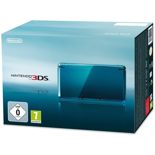 nintendo 3ds konsole aqua blau inkl stromkabel mit ovp top zustand ebay. Black Bedroom Furniture Sets. Home Design Ideas