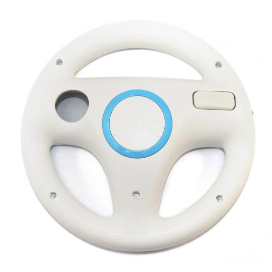 Wii - Original Controller Aufsatz: Lenkrad / Racing Wheel #weiß [Nintendo]