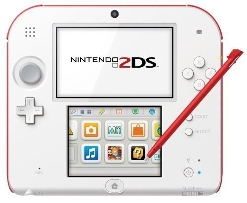 Nintendo 2DS - Konsole #weiß-rot + Netzteil