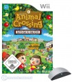 Wii - Animal Crossing: Let's go to the City + Mikrofon / Microphone Wii Speak (mit OVP) (gebraucht)