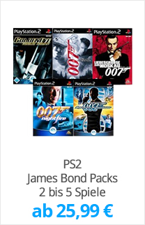 PS2 James Bond Packs