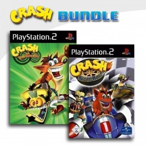 Playstation 2 - Crash Bandicoot: Twinsanity + Crash: Nitro Kart (mit OVP) (gebraucht)