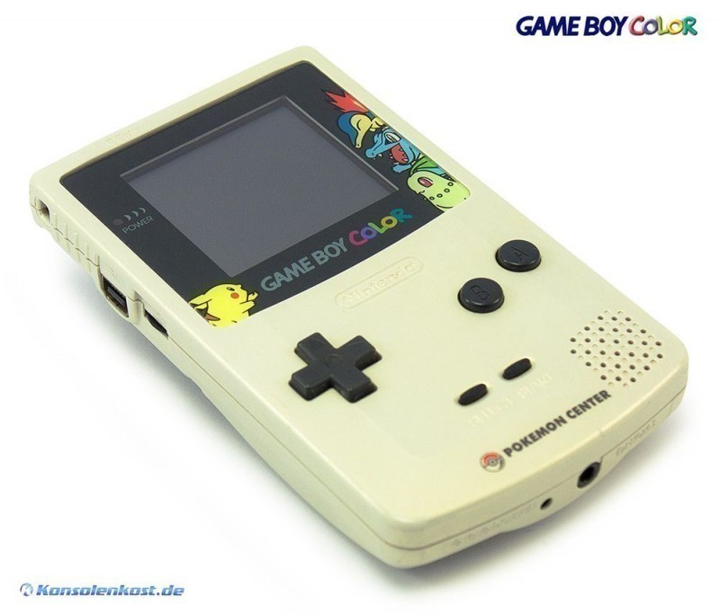 Gameboy Color Console Gold Silver Pokemon Center Edition For Gameboy Color