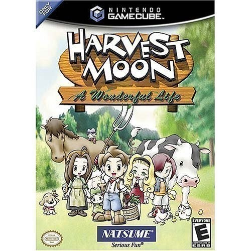 GameCube-Wii-Harvest-Moon-A-Wonderful-Life-mit-OVP-US-Import-gebraucht