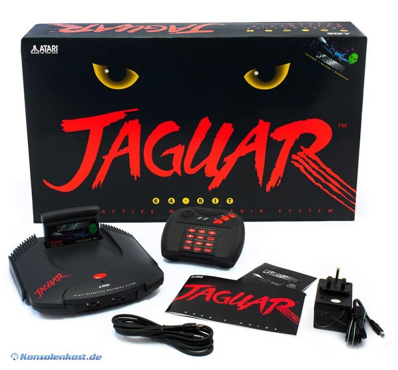 Retro-Atari-Jaguar-Konsole-Cybermorph-NEU-OVP-Komplett-neu-mit-Siegel-ver
