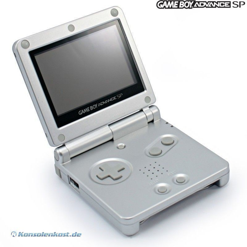 GBA-GAMEBOY-Advance-SP-Konsole-SILBER