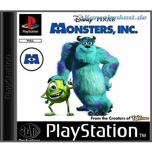 playstation 1 spiel die monster ag mit ovp f r sony. Black Bedroom Furniture Sets. Home Design Ideas