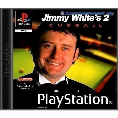 Playstation-1-Spiel-JIMMY-WHITES-2-CUEBALL-mit-OVP-f-PS1-PSX-PSOne