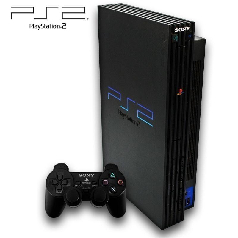 playstation 2 konsole inkl dual shock controller. Black Bedroom Furniture Sets. Home Design Ideas