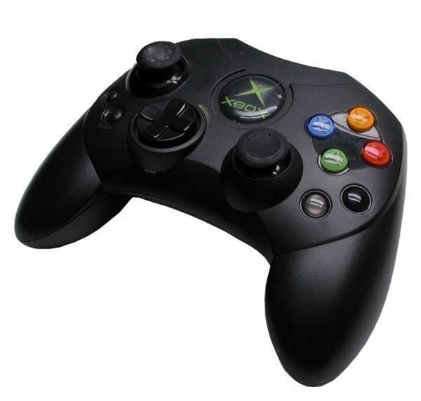 xbox original controller s schwarz microsoft gebraucht. Black Bedroom Furniture Sets. Home Design Ideas