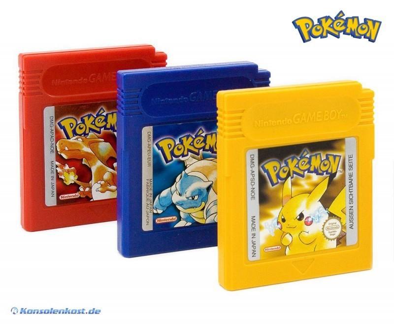 gameboy pokemon rot blau gelb rote blaue gelbe edition deutsch ebay. Black Bedroom Furniture Sets. Home Design Ideas