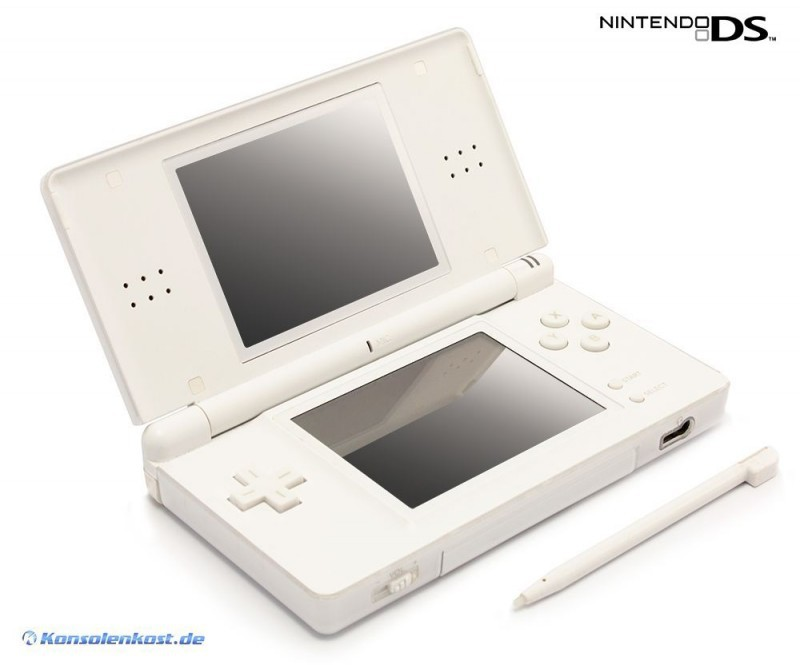 nintendo ds console lite white incl power supply used ebay. Black Bedroom Furniture Sets. Home Design Ideas