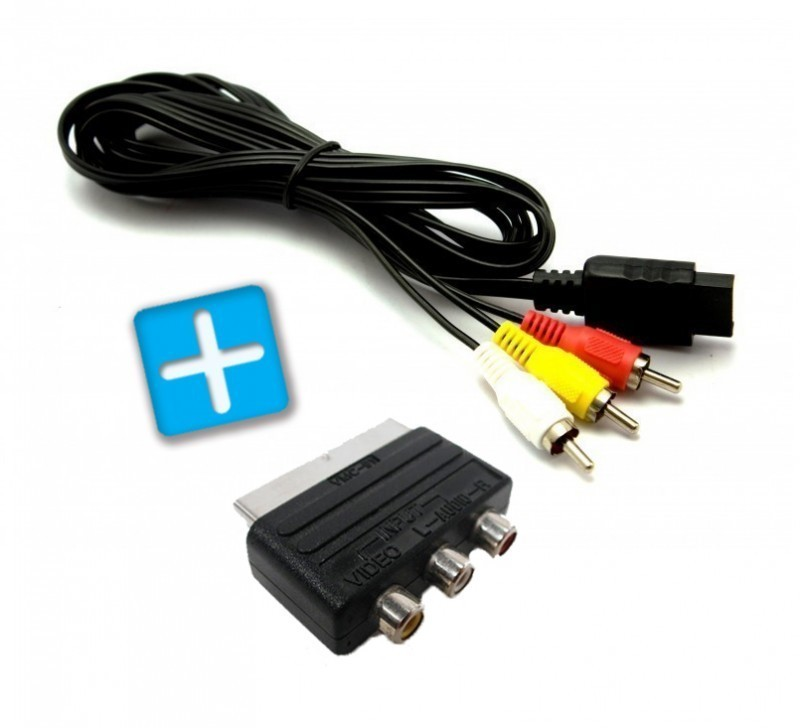 playstation 2 av scart kabel scart adapter neu bulk. Black Bedroom Furniture Sets. Home Design Ideas