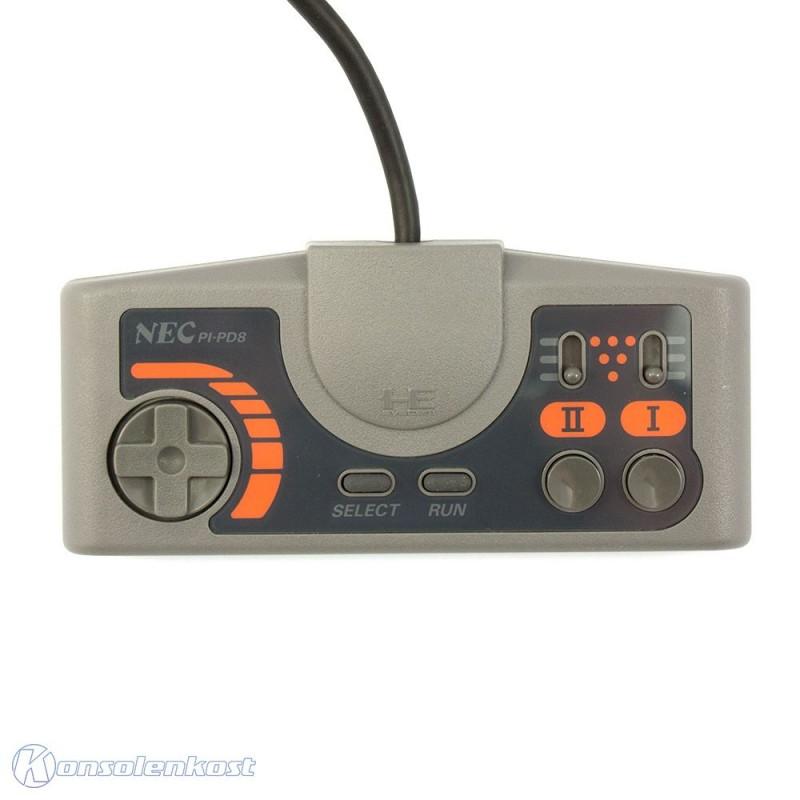 PC Engine / TurboGrafX - Original Controller II #schwarz-orange