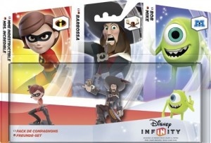 Triple Pak: Freunde-Set (Mrs. Incredible + Barbossa + Mike)