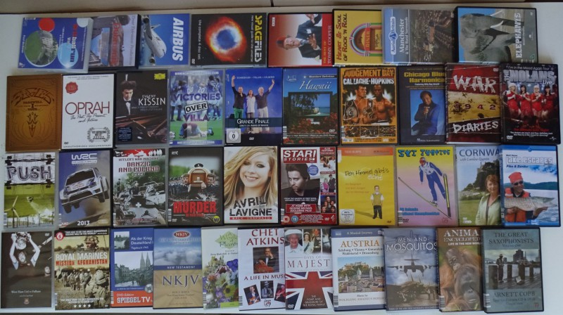 DVD - 40 diverse DVD´s: Dokus/Sport/Musik/Biogr...