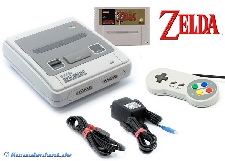 snes konsole inkl zelda controller zubeh r. Black Bedroom Furniture Sets. Home Design Ideas