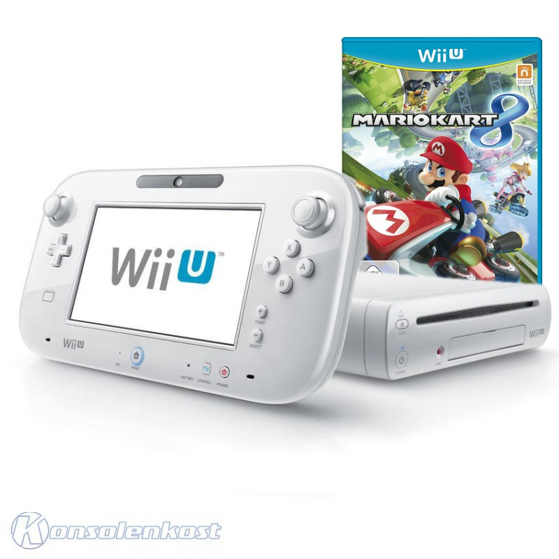 Nintendo wii u console 8 gb white mario kart tablet for Nintendo wii u tablet
