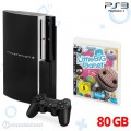 Konsole 80GB + Original Wireless Controller + Little Big Planet