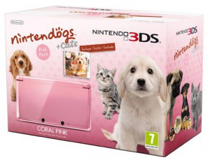 3DS Konsole #Coral Pink Nintendogs & Cats Edition (mit Spiel)