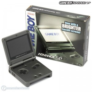 Konsole GBA SP #Onyx Black / Anthrazit AGS-101 (inkl. Netzteil)
