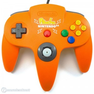 original Nintendo Controller #orange-gelb Pikachu Edition NUS-005