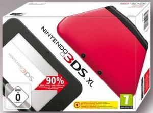 3DS XL Konsole #rot