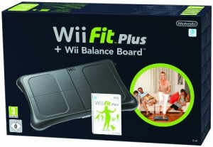 Wii Fit Plus mit original Balance Board #schwarz