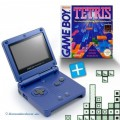 GBA/GameBoy Advance SP Konsole + Tetris #blau