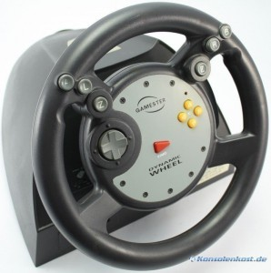 Lenkrad / Racing / Steering Wheel Dynamic mit Pedale [Gamester]