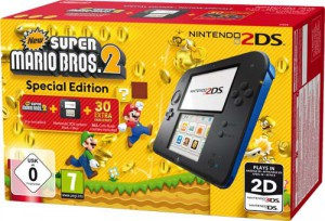2DS Konsole - Limited Edition Pack (inkl. New Super Mario Bros 2)