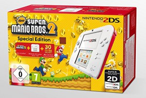 2DS Konsole #weiß-rot (inkl. New Super Mario Bros. 2)