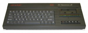 Sinclair 128k ZX Spectrum + 2 #grau