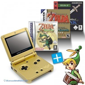 GBA / GameBoy Advance SP Konsole + Zelda II + A Link to the Past + Minish Cap