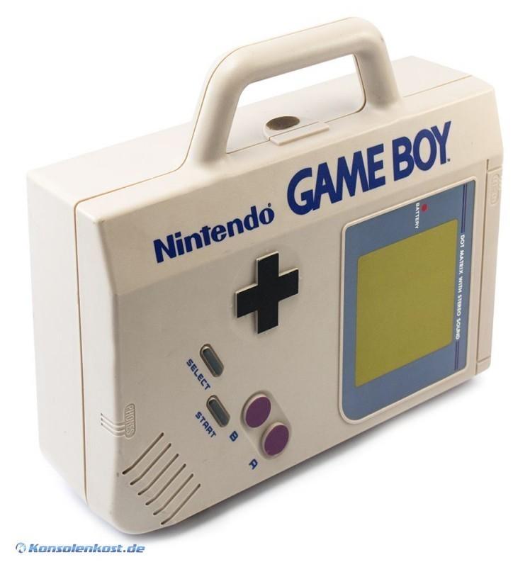 gameboy original nintendo tasche case koffer grau. Black Bedroom Furniture Sets. Home Design Ideas