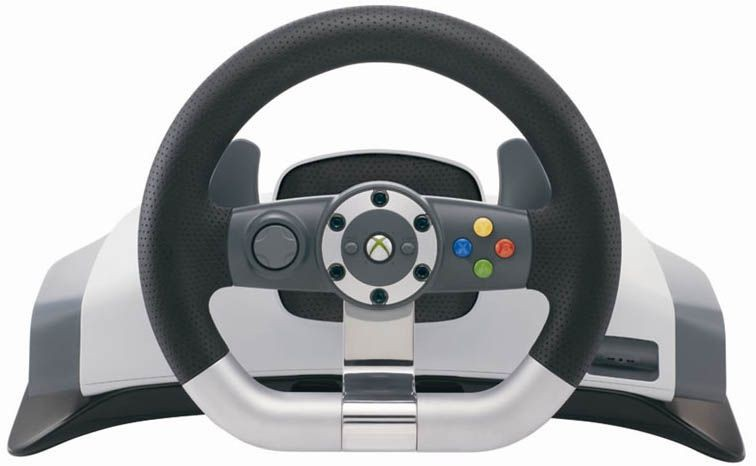 xbox 360 original lenkrad racing steering wheel mit. Black Bedroom Furniture Sets. Home Design Ideas