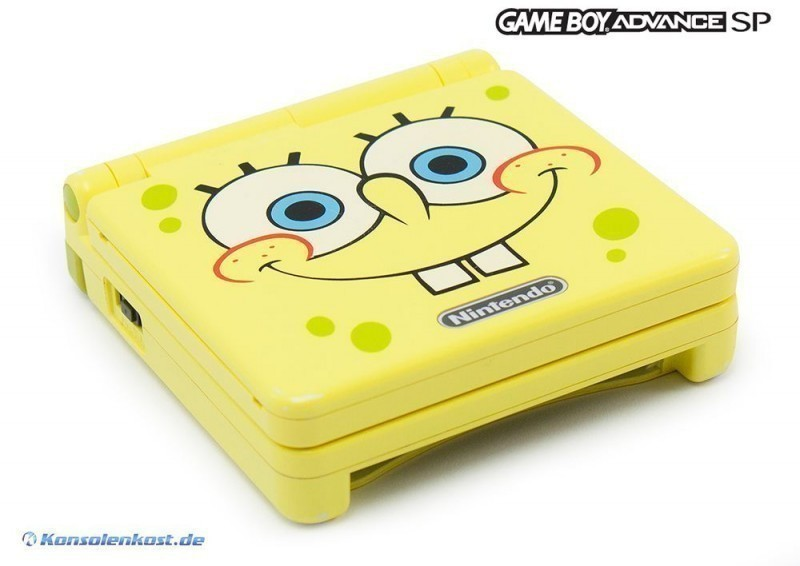 gba console gba sp spongebob edt ags 101 incl power supply used 045496716769 ebay. Black Bedroom Furniture Sets. Home Design Ideas