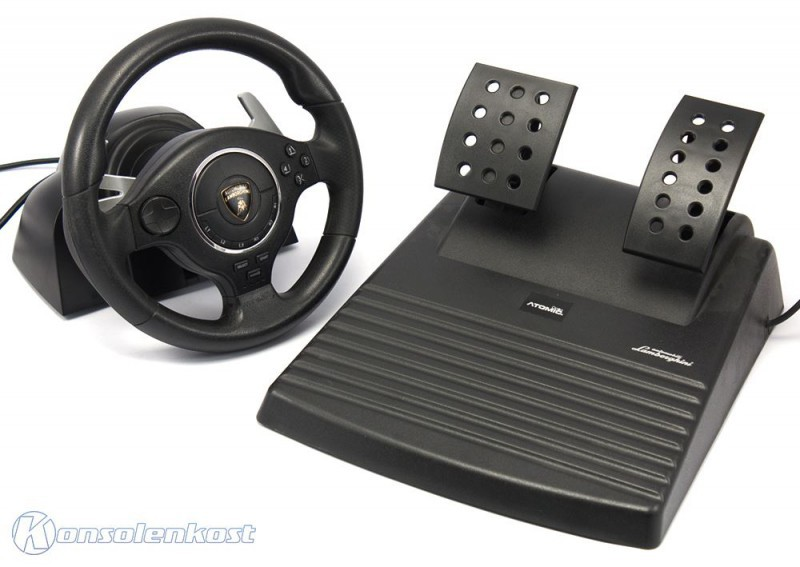 ps3 lenkrad racing steering wheel mit pedale super. Black Bedroom Furniture Sets. Home Design Ideas
