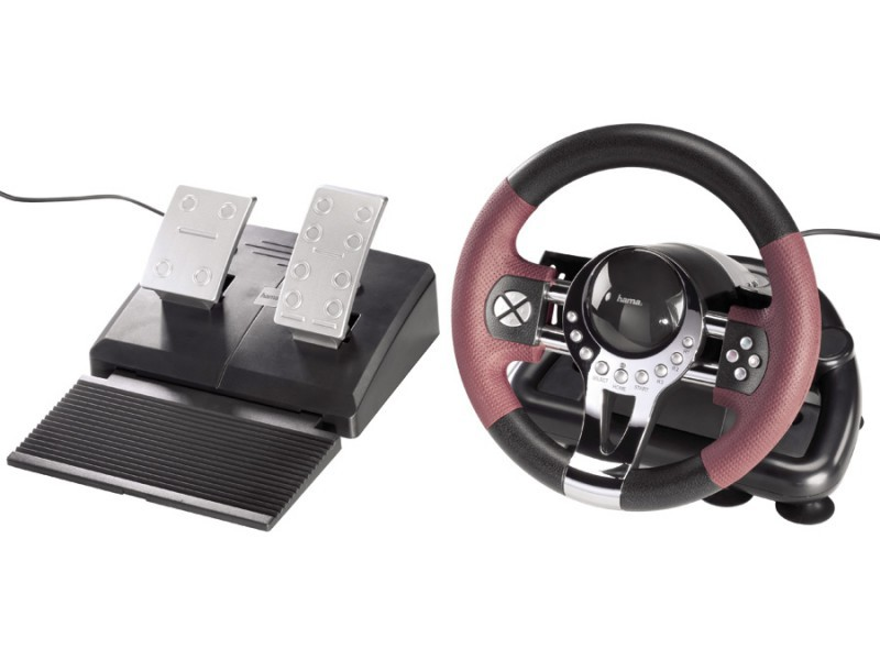 ps3 lenkrad racing steering wheel mit pedale. Black Bedroom Furniture Sets. Home Design Ideas