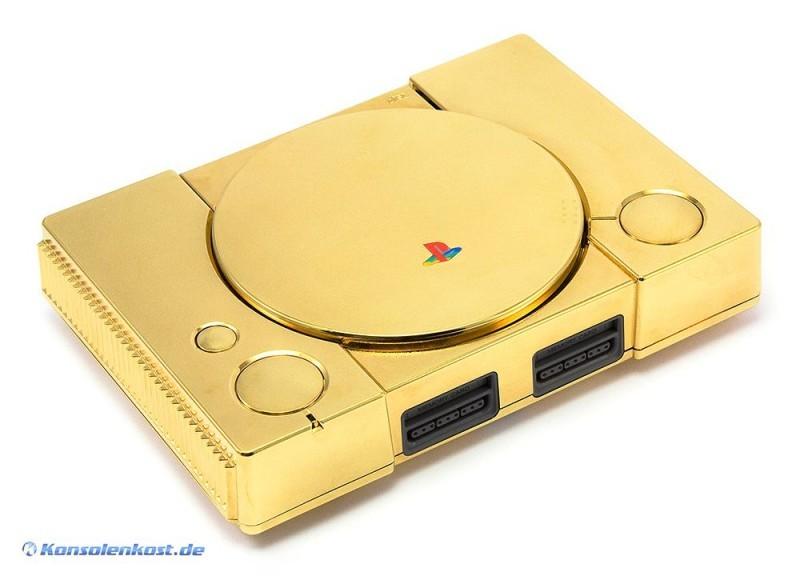 ps1 konsole custom geh use gold gebraucht playstation 1 ps1 konsolen. Black Bedroom Furniture Sets. Home Design Ideas