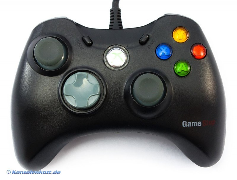 xbox 360 controller gamestop schwarz gebraucht xbox. Black Bedroom Furniture Sets. Home Design Ideas