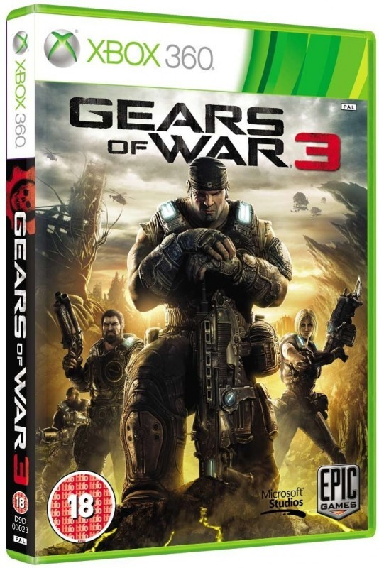 xbox 360 gears of war 3 englisch mit ovp gebraucht. Black Bedroom Furniture Sets. Home Design Ideas