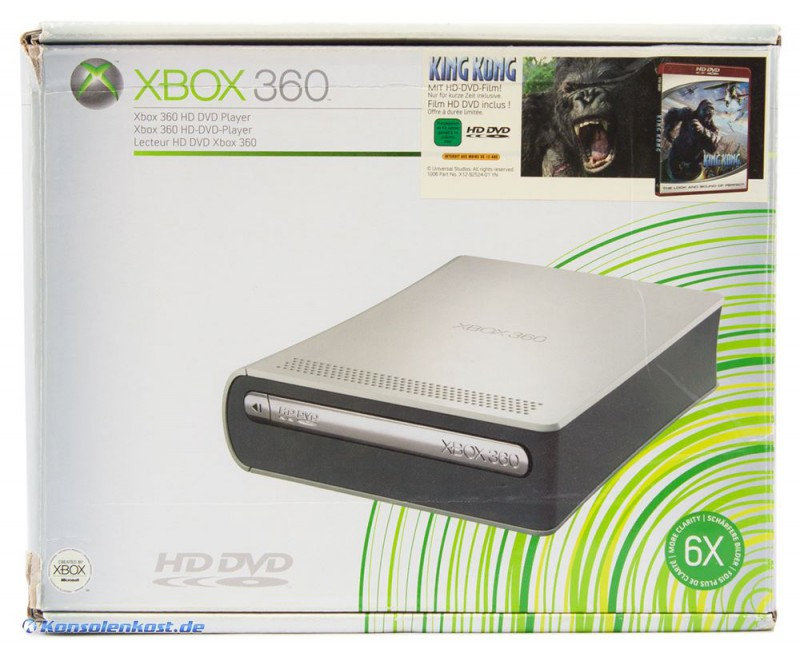xbox 360 hd dvd player inkl fernbedienung microsoft. Black Bedroom Furniture Sets. Home Design Ideas