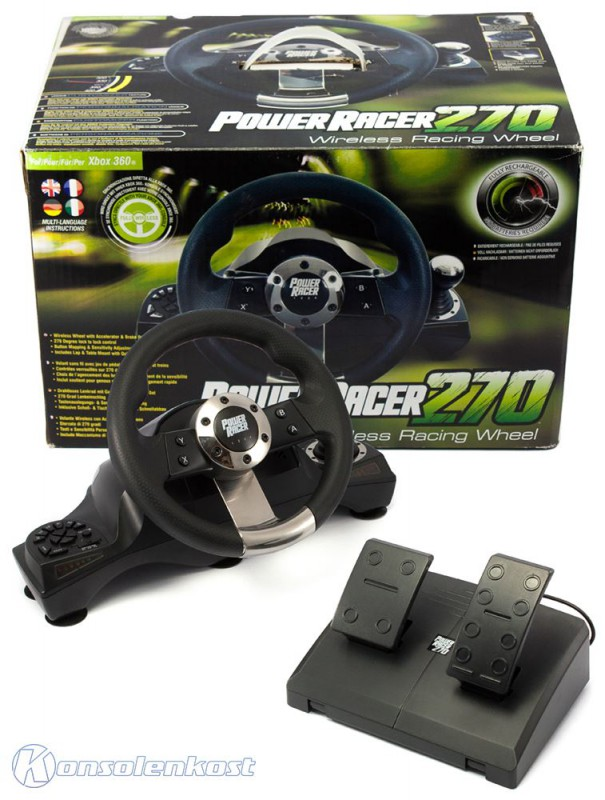 xbox 360 lenkrad wl power racing wheel 270 datel mit. Black Bedroom Furniture Sets. Home Design Ideas