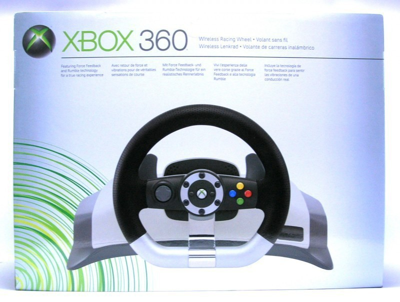 xbox 360 wireless racing wheel mit ovp gebraucht. Black Bedroom Furniture Sets. Home Design Ideas
