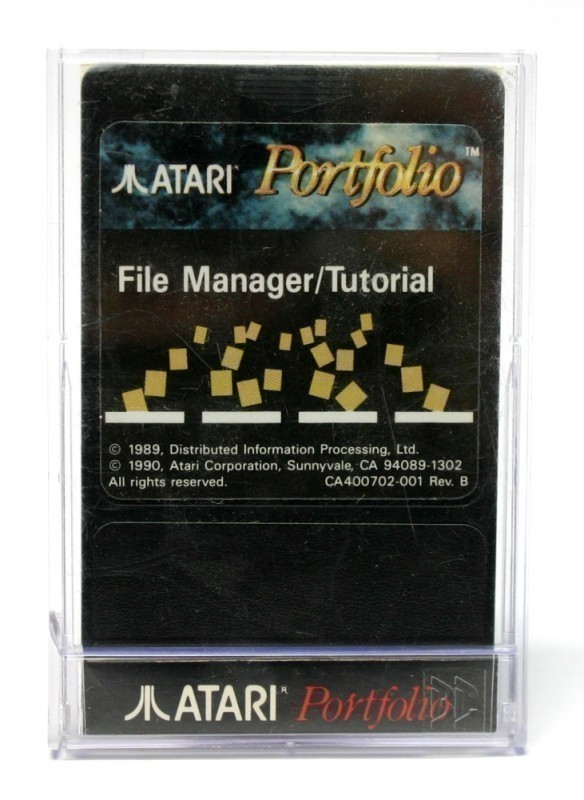 Atari - Portfolio File Manager/Tutorial
