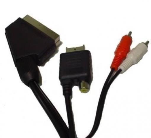 ps1 rgb scartkabel scart kabel mit cinch audio out und av adapter f r guncon schwarz. Black Bedroom Furniture Sets. Home Design Ideas
