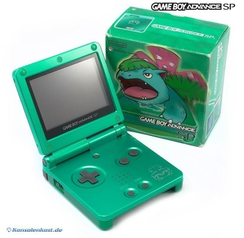 Gameboy Advance Konsole Gba Sp Leaf Green Pokemon