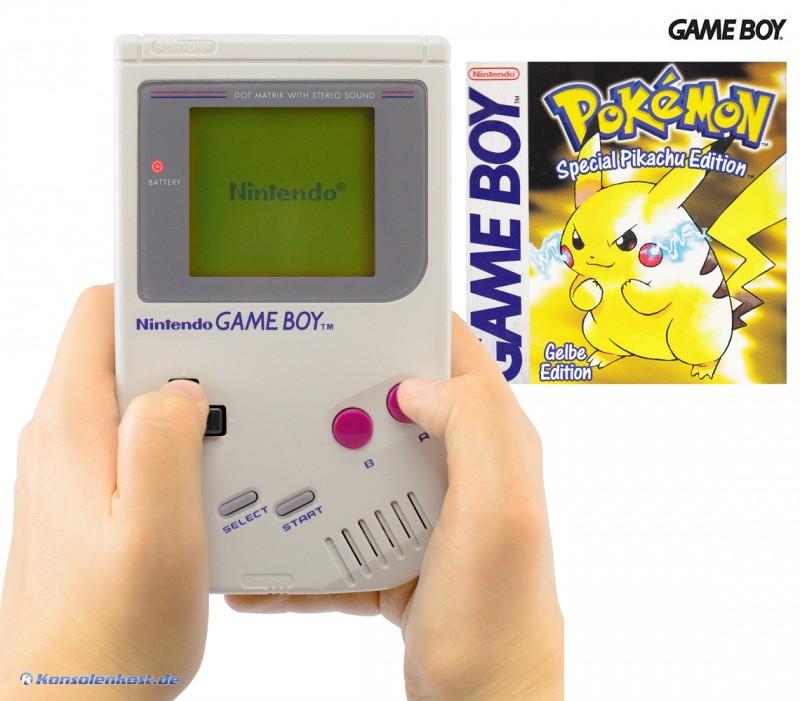 gameboy konsole pokemon gelbe edition deutsch gebraucht gameboy classic konsolen. Black Bedroom Furniture Sets. Home Design Ideas
